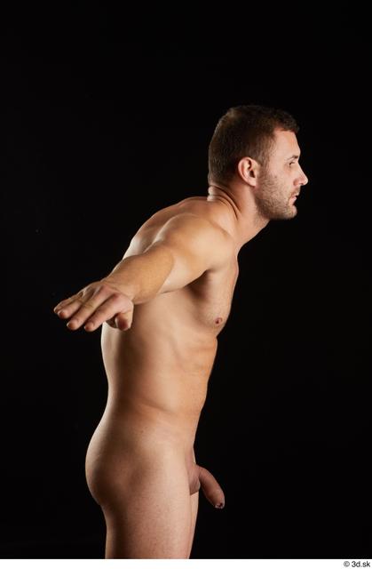 Arm Chest Upper Body Man White Nude Slim Studio photo references