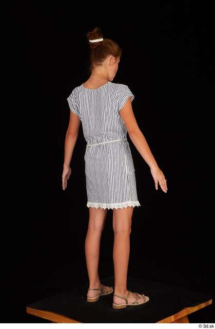 Whole Body Woman Casual Dress Slim Standing Studio photo references