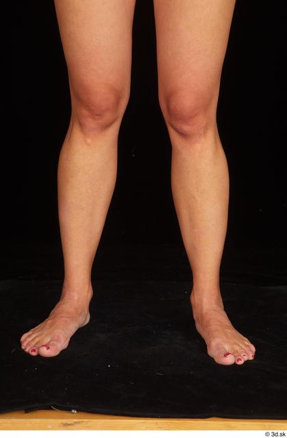 Calf Woman White Nude Average Studio photo references