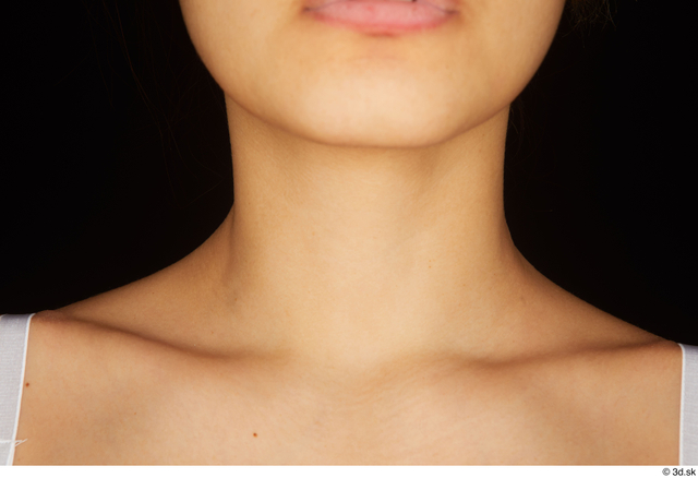 Neck Woman White Nude Average Studio photo references