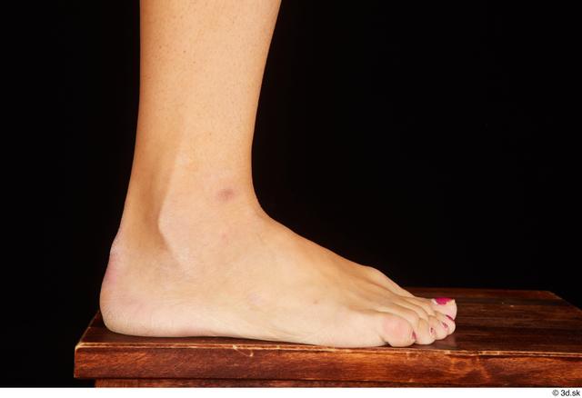Foot Woman White Nude Average Studio photo references