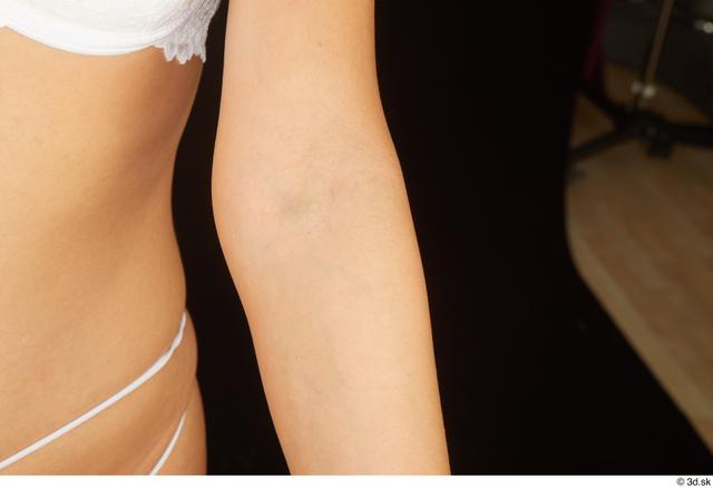 Woman White Nude Average Studio photo references