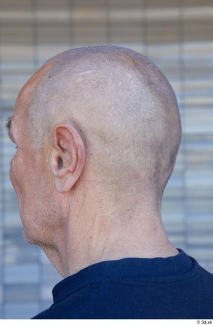Head Man White Sports Slim Bald Street photo references