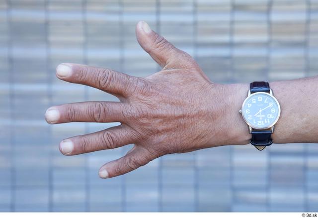 Hand Man White Sports Slim Watch Street photo references
