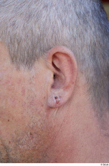 Ear Man White Casual Slim Street photo references