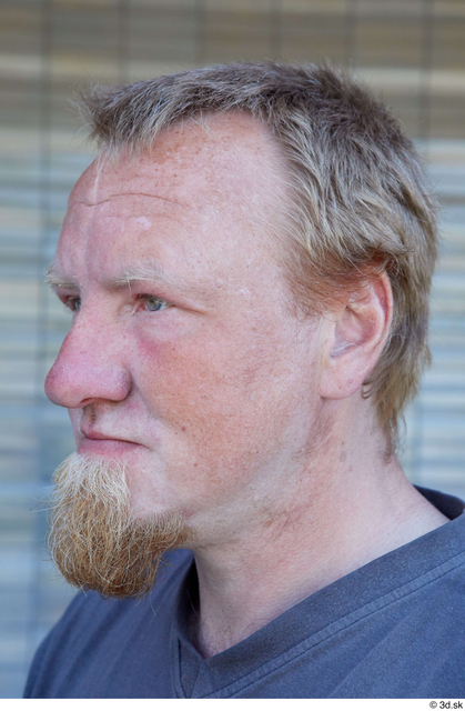 Head Man White Casual Chubby Bearded Street photo references