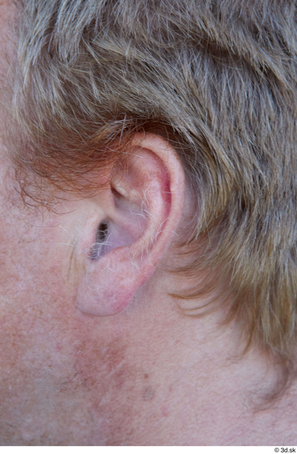 Ear Man White Casual Chubby Street photo references