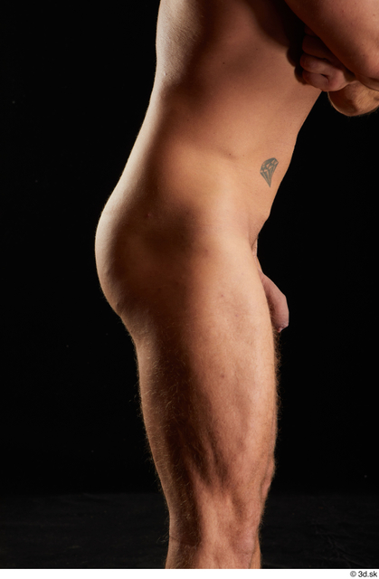 Hips Man White Nude Muscular Studio photo references
