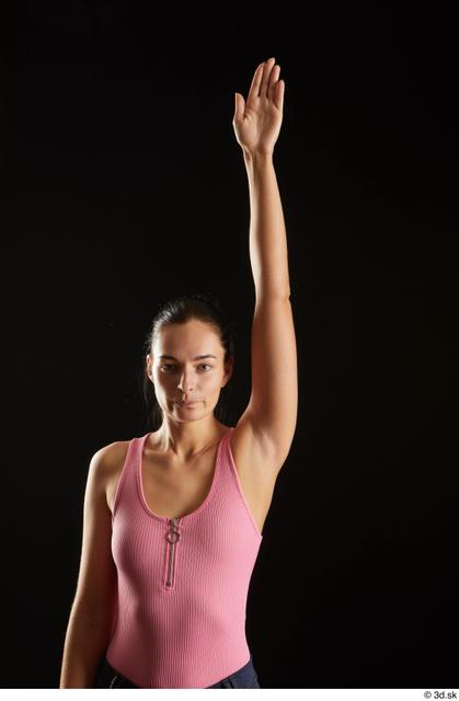 Arm Woman White Slim Studio photo references