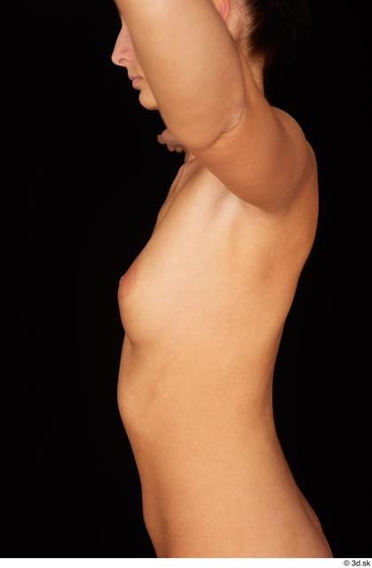 Chest Upper Body Breast Woman White Nude Slim Studio photo references