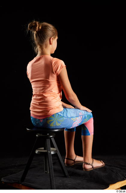 Whole Body Woman White Sports Shoes Shirt T shirt Average Sitting Leggings Studio photo references