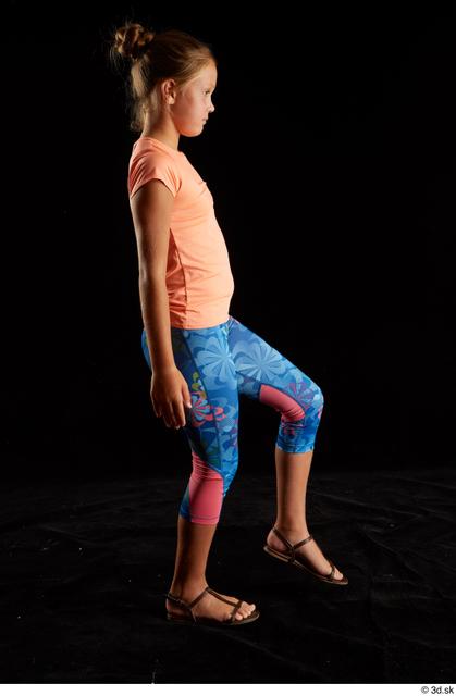 Whole Body Woman White Sports Shoes Shirt T shirt Average Walking Leggings Studio photo references