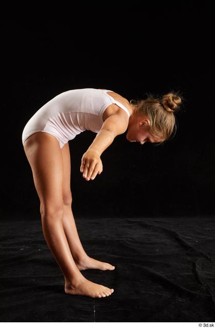 Upper Body Whole Body Woman White Underwear Average Studio photo references