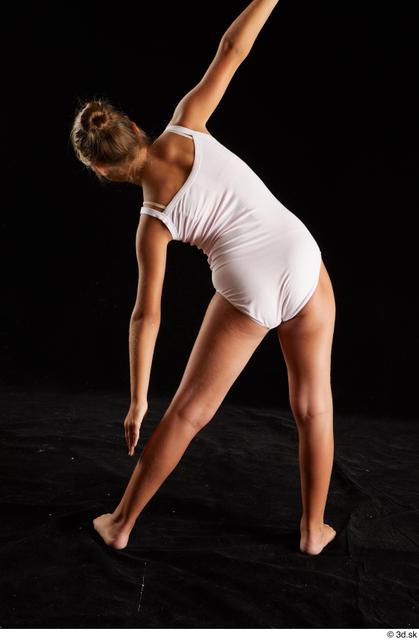 Upper Body Whole Body Back Woman White Underwear Average Studio photo references