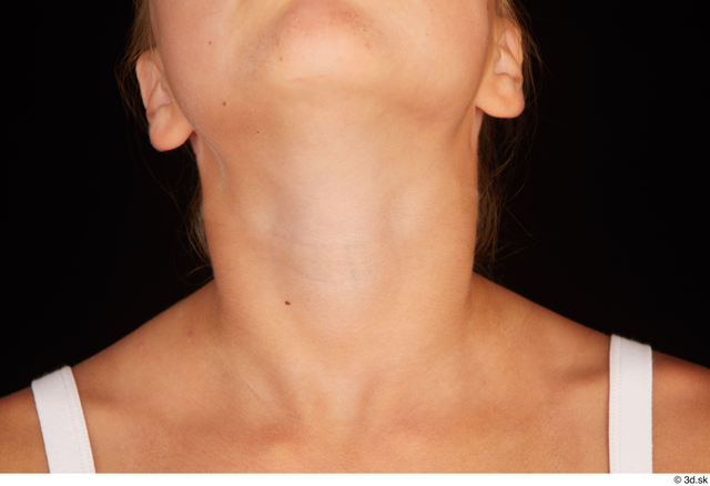Neck Woman White Nude Average Studio photo references