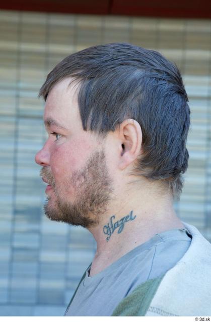 Head Man White Average Bearded Street photo references