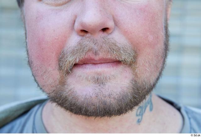 Mouth Man White Average Bearded Street photo references
