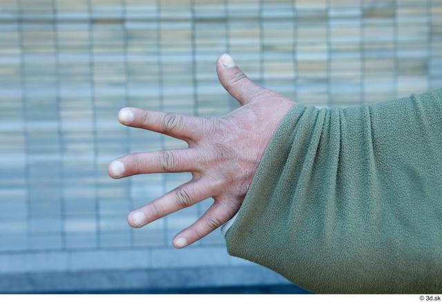 Hand Man White Average Street photo references