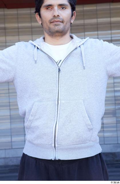 Upper Body Man White Sports Average Street photo references