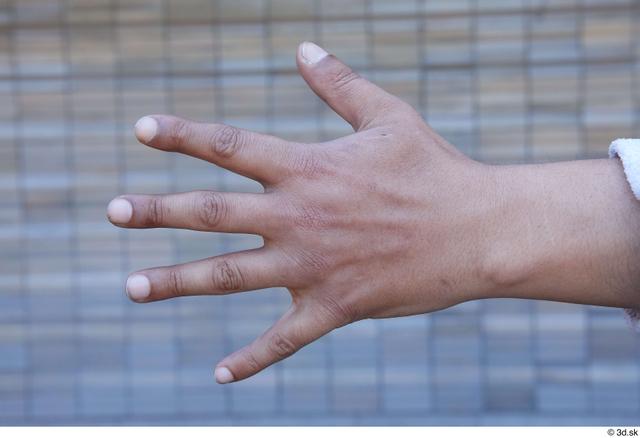 Hand Man White Sports Average Street photo references