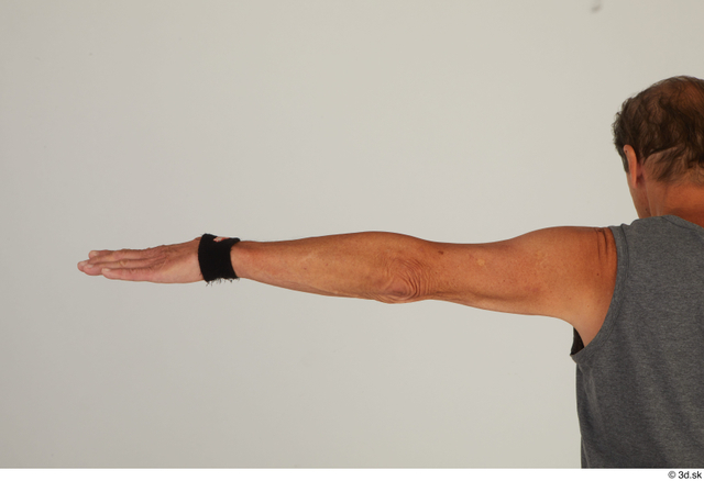 Arm Man White Sports Slim Street photo references