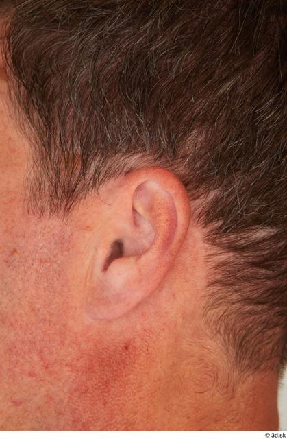 Ear Man White Casual Average Street photo references