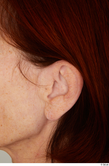 Ear Woman White Casual Slim Street photo references
