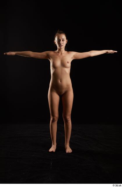 Whole Body Woman Slim Studio photo references