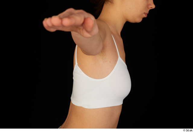 Breast Woman White Underwear Bra Average Studio photo references