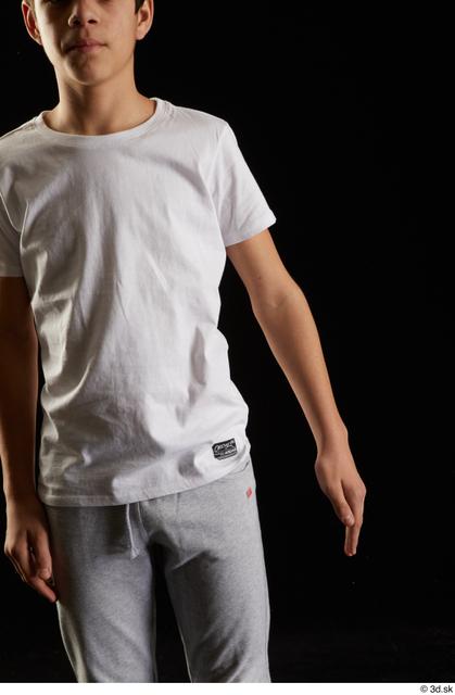 Arm Man White Sports Shirt T shirt Studio photo references