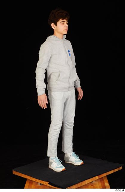 Whole Body Man White Sports Sweatsuit Slim Standing Studio photo references