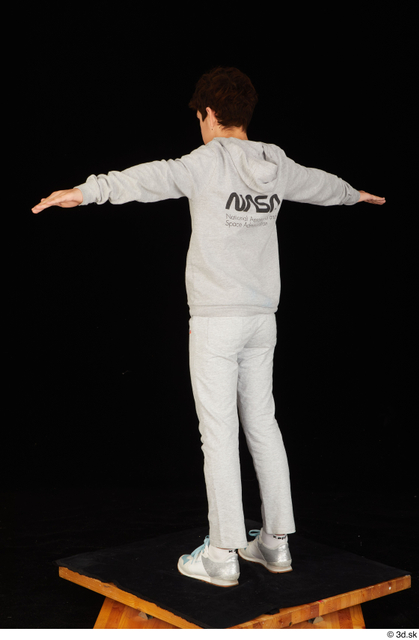 Whole Body Man T poses White Sports Sweatsuit Slim Standing Studio photo references