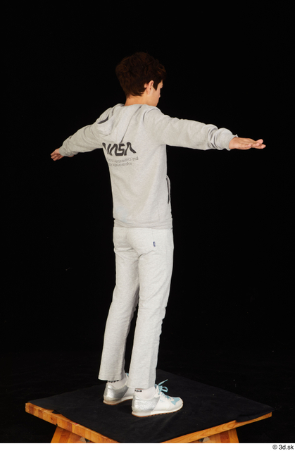 Whole Body Man T poses White Sports Sweatsuit Slim Standing Studio photo references