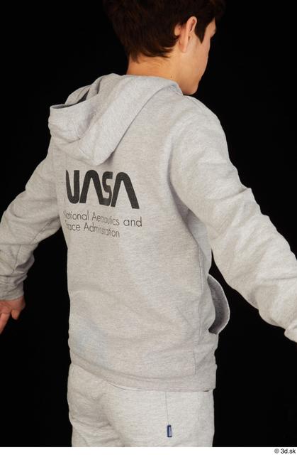 Upper Body Man White Sports Sweatsuit Slim Studio photo references