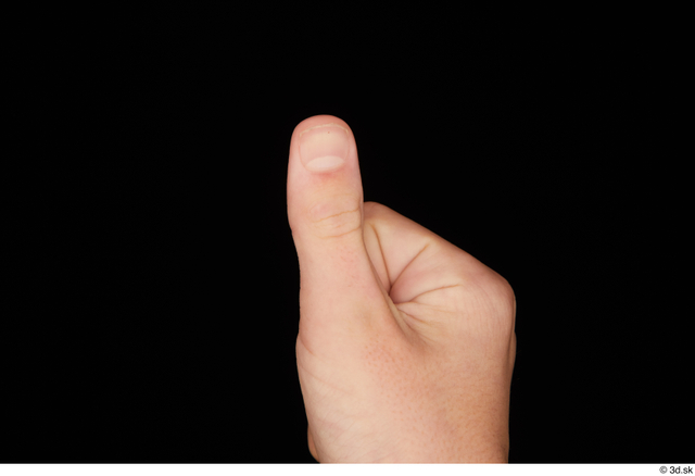 Fingers Man White Slim Studio photo references