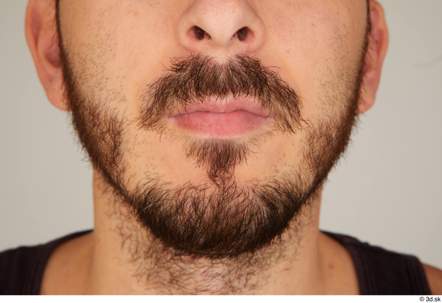 Mouth Man White Casual Slim Bearded Street photo references