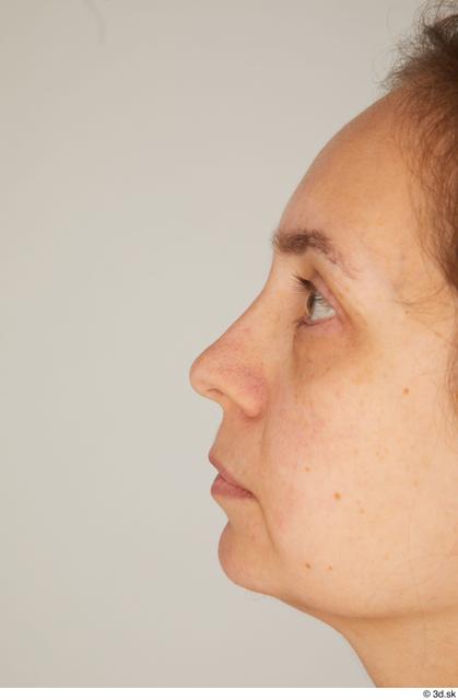 Nose Woman White Average Street photo references