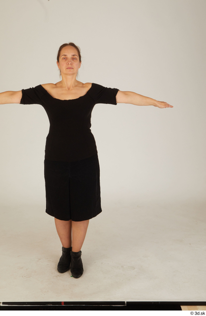 Whole Body Woman T poses White Average Standing Street photo references