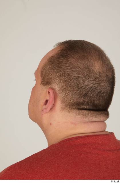 Head Hair Man White Casual Overweight Street photo references