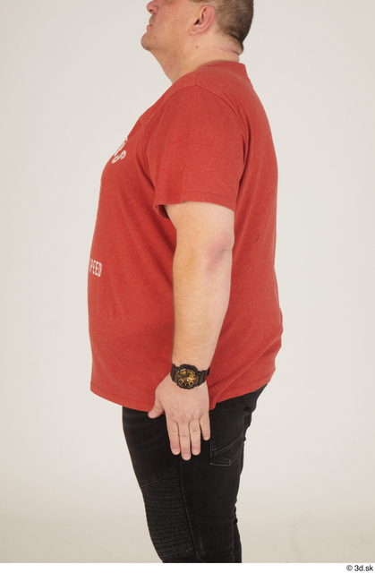 Arm Upper Body Man White Casual Overweight Street photo references