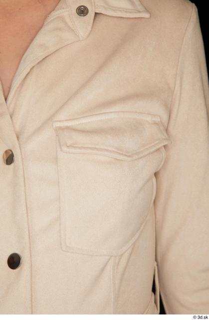 Upper Body Woman White Dress Slim Studio photo references
