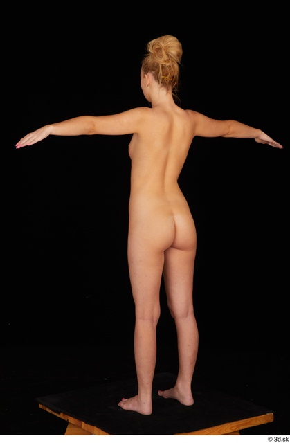 Whole Body Woman T poses White Nude Slim Standing Studio photo references
