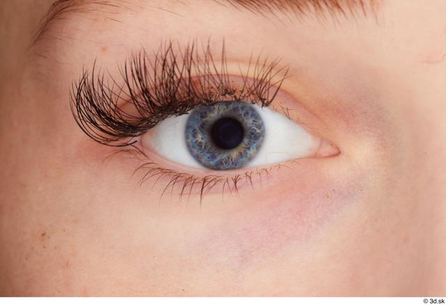Eye Woman White Slim Studio photo references