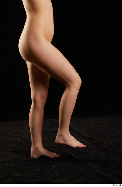 Leg Woman White Nude Slim Studio photo references