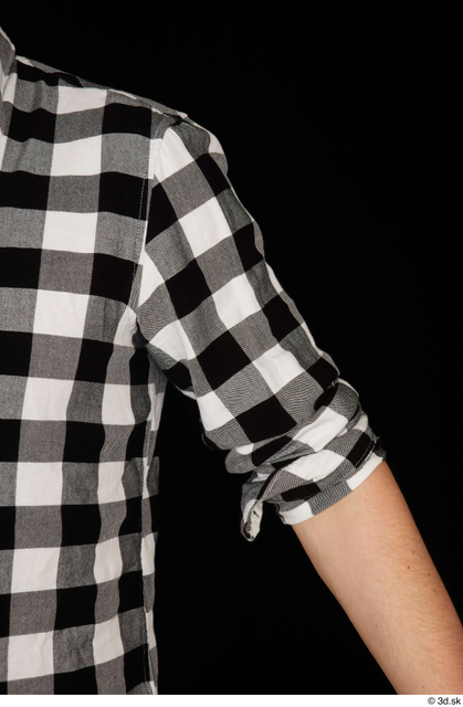 Arm Upper Body Man White Shirt Slim Studio photo references