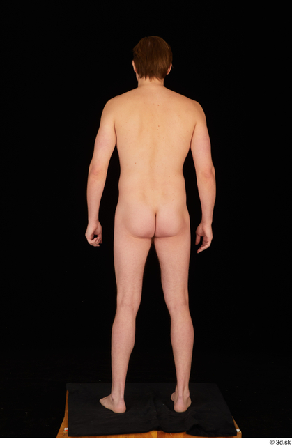 Whole Body Man Nude Slim Standing Studio photo references
