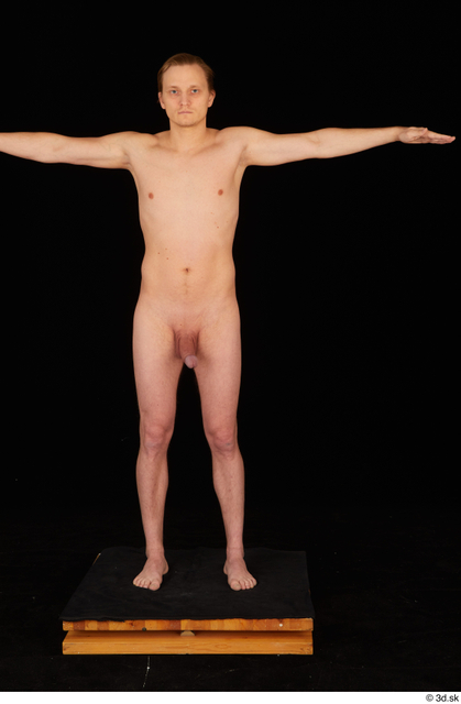 Whole Body Man T poses Nude Slim Standing Studio photo references