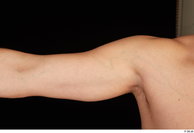 Arm Man Nude Slim Studio photo references