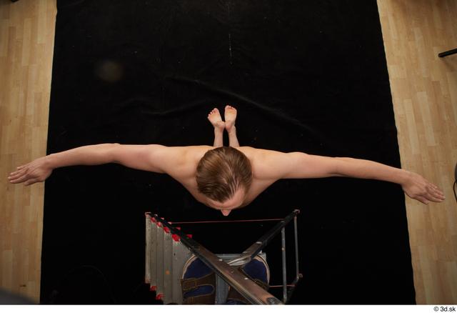 Whole Body Man T poses Nude Slim Kneeling Top Studio photo references
