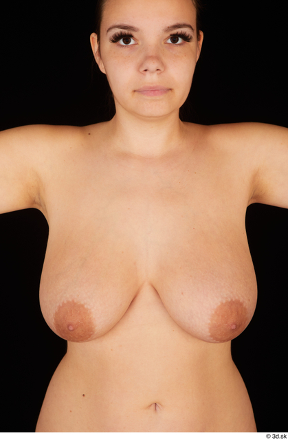 Chest Breast Woman White Nude Chubby Studio photo references
